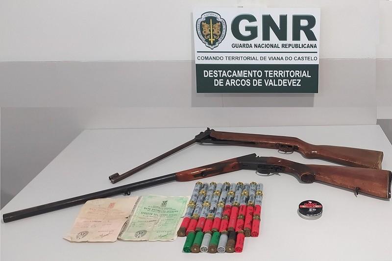 Arcos de Valdevez  Detido por posse ilegal de armas