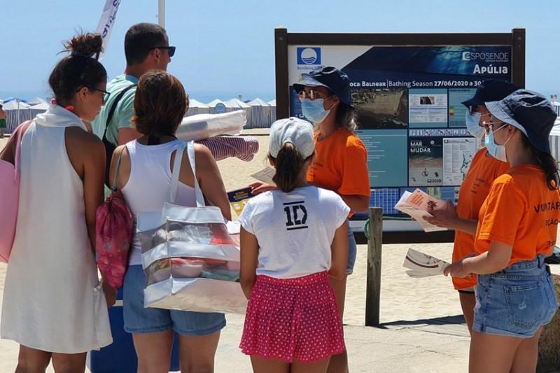 Município de Esposende sensibiliza para cumprimento de regras de saúde e segurança nas praias
